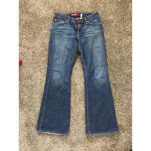 Big Star jeans size 29 flare cut, waist taken in
